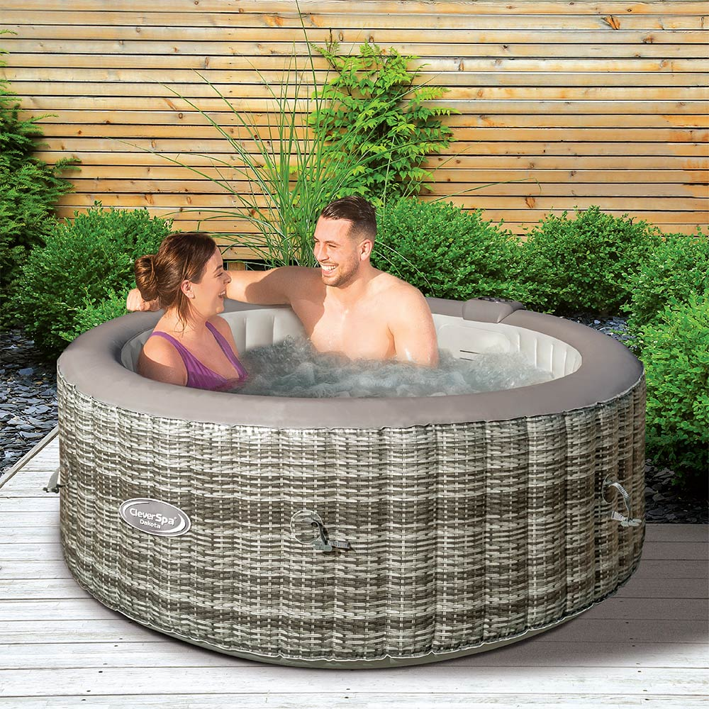 CleverSpa® Dakota 4 Person Inflatable Hot Tub   Clever Company