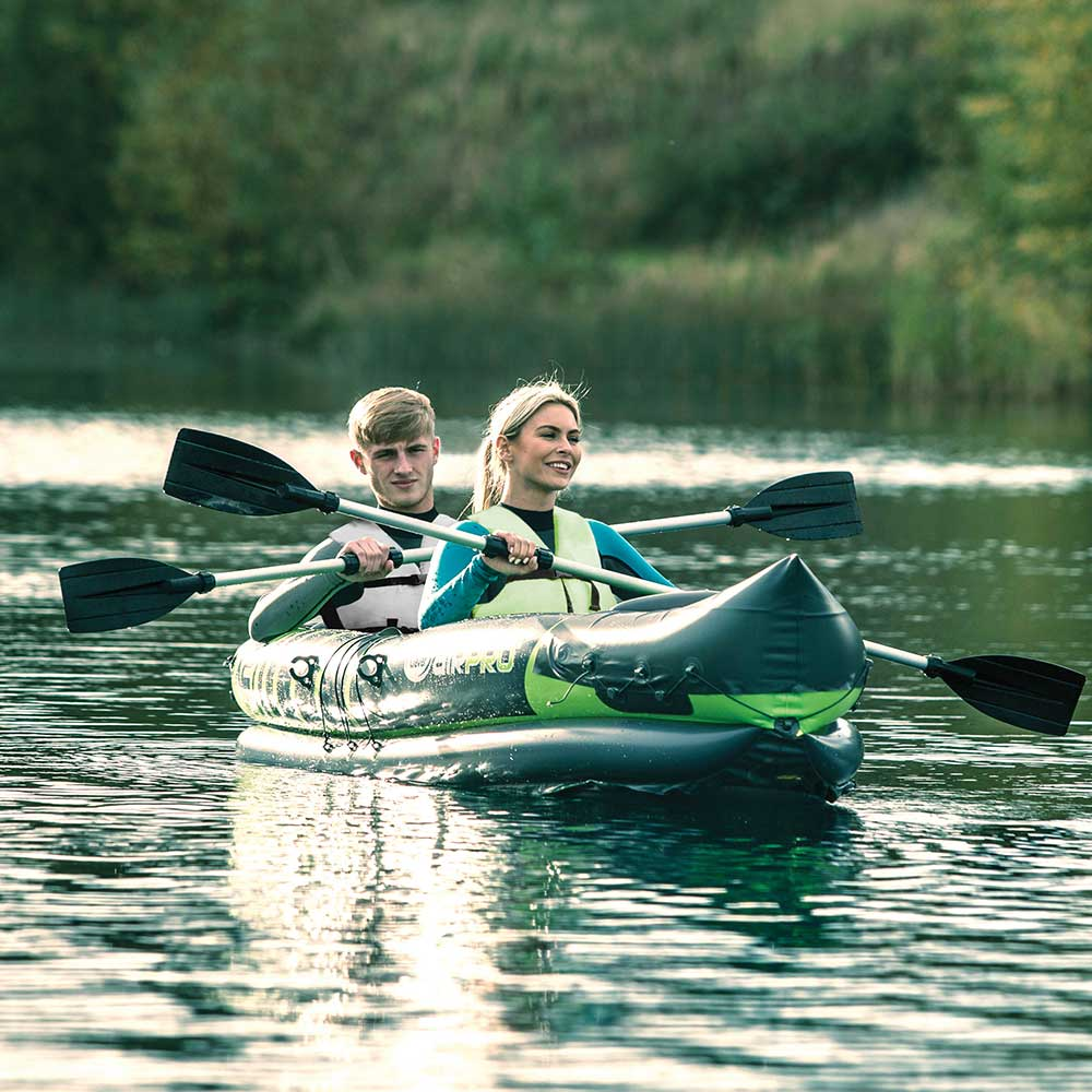 Clever Airpro X2 2-Person Inflatable Kayak *Free P/&P*